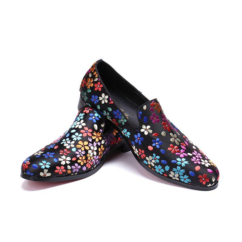 2019 Pisos Flores Casuales Compre Otoño Male Mocasines Zapatos On Moda Slip Primavera Italia Mulas Hombre 42 A82 Leather WDIE2Y9H