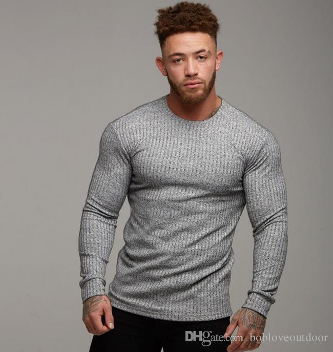2020 2019 Gym Mens New Sports Bottom Shirt Fitness Body Building Leisure Mens Slim Knitted T Shirt Comfortable Trend Outdoor Youth From Bobloveoutdoor 11 43 Dhgate Com