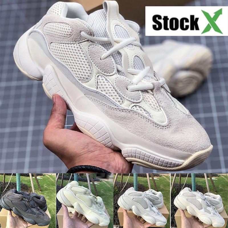 Лучшие Kanye 500S Обувь Bone White Blush Desert 500S Обувь Соль Супер Луна Желтый Полезность Черный Kanye West Спорт Мужчины Женщины кроссовки
