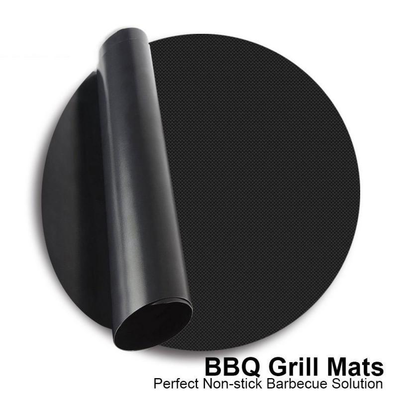 오일 패드 베이킹 파티 피크닉 요리 BBQ 그릴 매트 재사용 가능한 붙지 않는 주방 매트 액세서리 팬 프라이 바베큐 라이너 시트