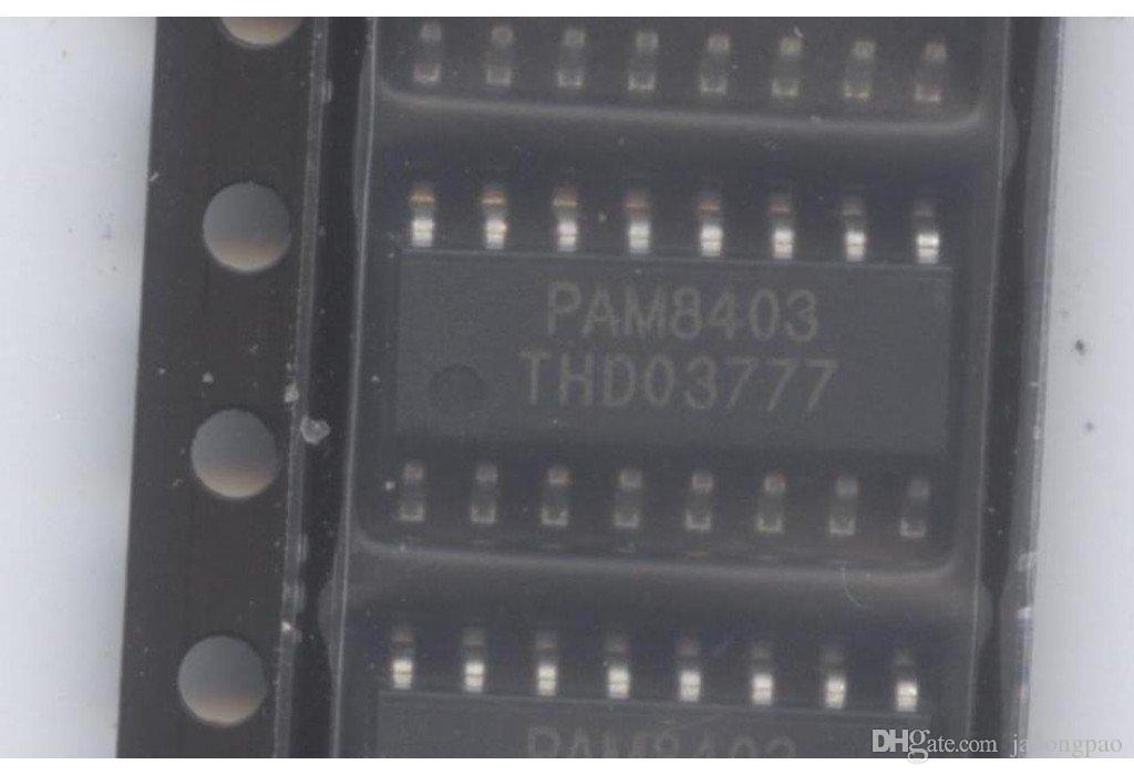 50pcs PAM8403 فئة د مكبر للصوت ستيريو