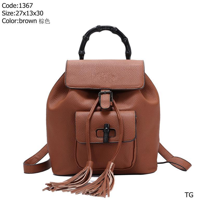 Design backpack 1367 TG Best price High Quality women Ladies Single handbag tote Shoulder backpack bag purse wallet