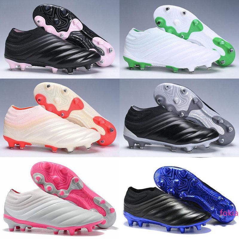 baratas 2019 grapas de fútbol para hombre X 19.1 FG Predator botas de fútbol zapatos de fútbol al aire libre Tacos de futbol apagón de alta calidad