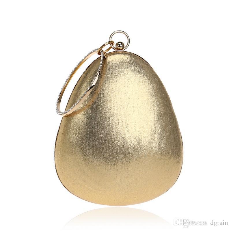 Funkelnde Gold Frauen Mini Abendkupplung Armbandlets Tasche Braut Hochzeitsfeier Kristall Handtasche Und Geldbörse Cocktail Party Bag Minaudiere Box