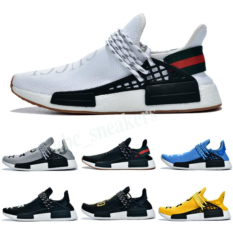 Adidas PW HU Holi NMD MC 2019 человеческая раса мужские кроссовки без коробки Pharrell Williams Sample Yellow Core Black Sport Shoes Женские кроссовки 36-45 b03