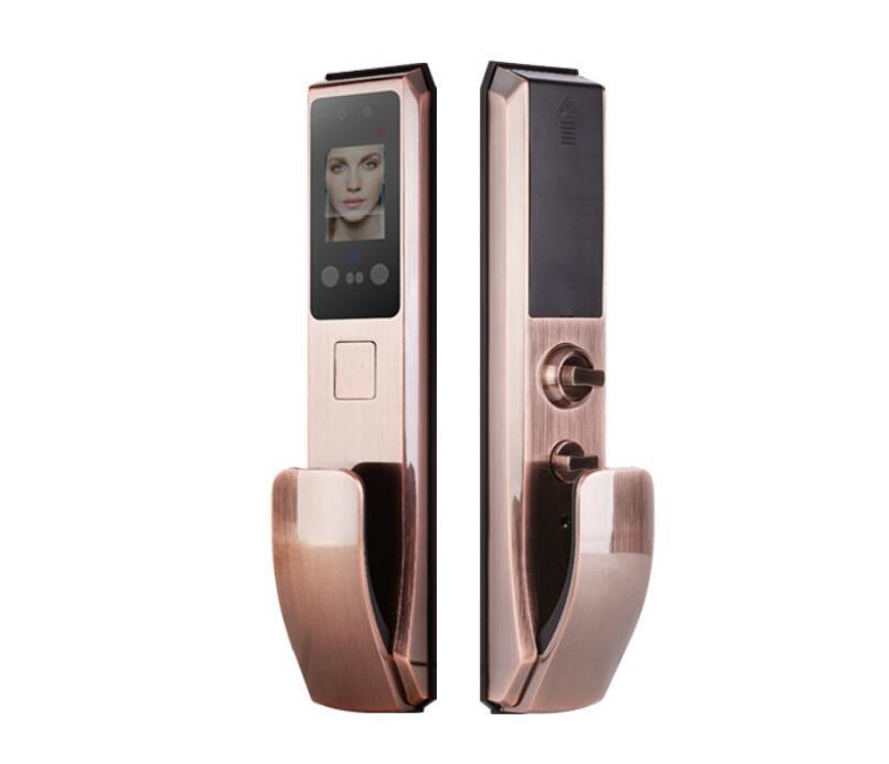 Rongshenda FX70 fingerprint face recognition door lock automatic household anti-theft door lock password brush face recognition face lock
