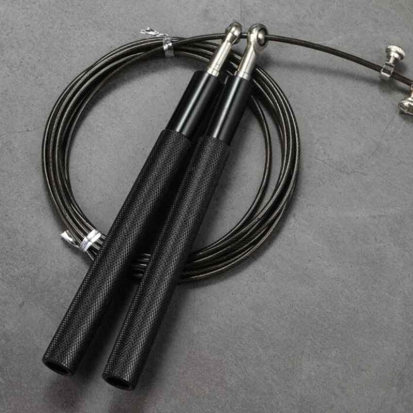 حبل المهنية السريع أسلاك الفولاذ حبل قابل للتعديل السريع حبل القفز التدريب الألومنيوم تخطي الحبال للياقة البدنية سرعة تخطي ZZA2081 50PCS