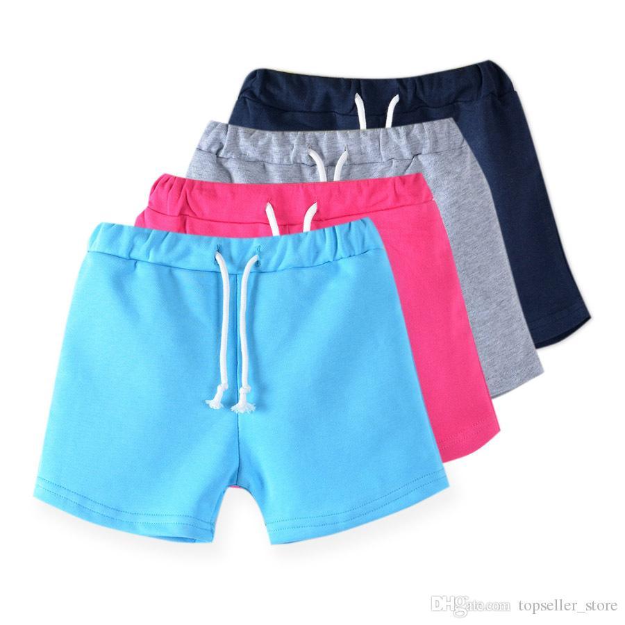 новые конфеты цвет девочек, шорты горячие летние мальчики брюки пляж шорты Детские брюки детские брюки