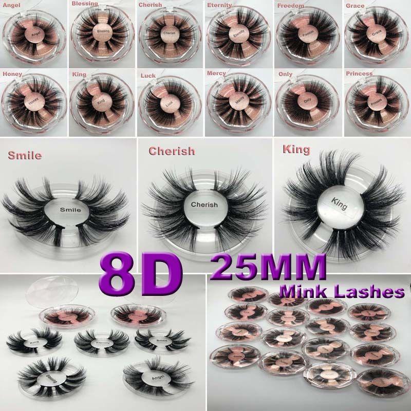 25mm 5D cils vison Faux cils entrecroisés naturel faux cils maquillage 3D cils Extension cils extension de cils