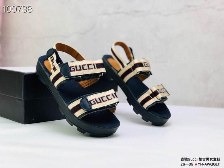 2020 лето горячие продажи детские сандалии новый дизайнер мальчики девочки слайды высокое качество малыш полосатый Детская обувь подарок на день рождения размер 26-3525e8#