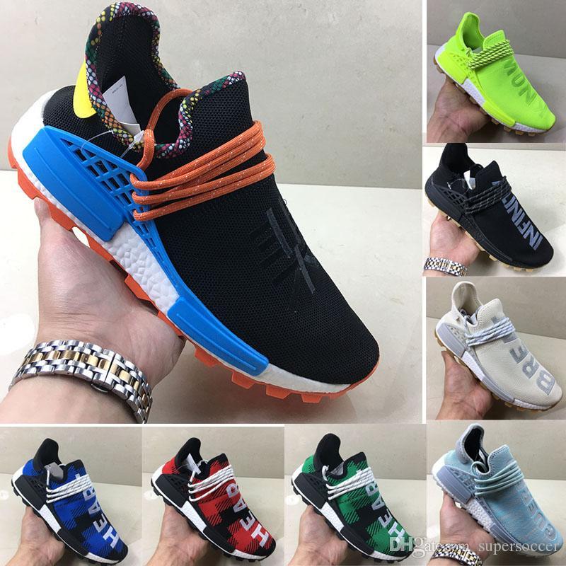 Corrida de alta qualidade Novo Humano Pharrell Williams Homens Mulheres Running Shoes Shoes Discount Cheap Sneaker Esportes