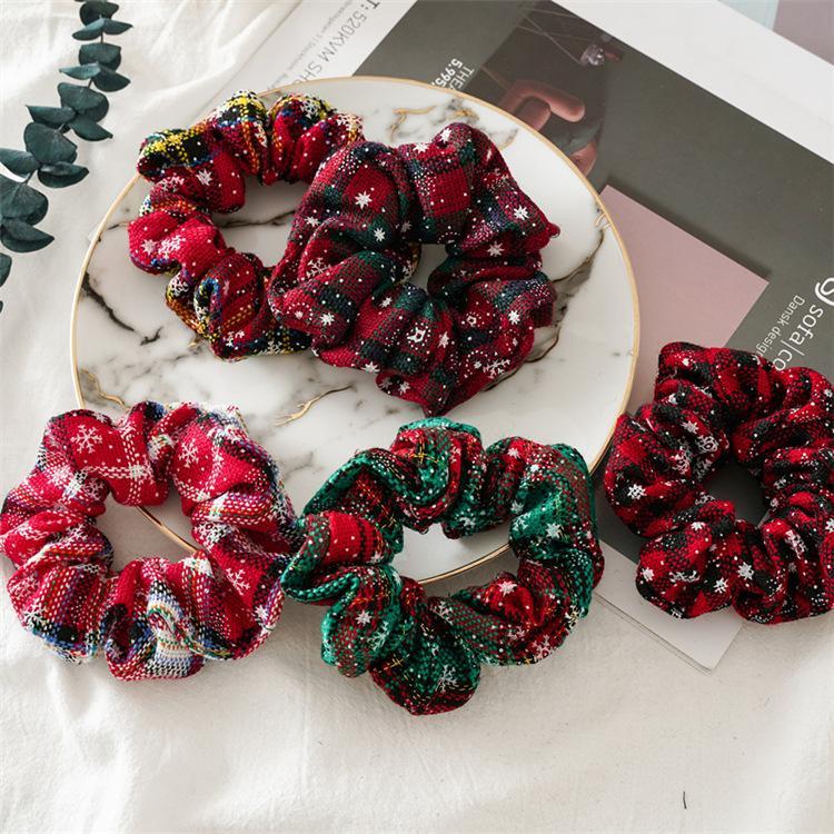 Рождество Scrunchie Hairband Foral резинка для волос оголовье хвостик волос Держатель Веревка Цветы Flamingo Headdress Хаундстут Accesorios волос