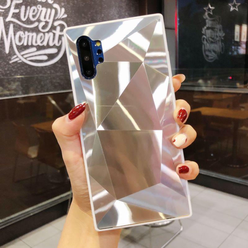 3D الماس مرآة القضية لسامسونج S9 S8 S10 S20 زائد لينة غطاء عاكس للحصول على سامسونج غالاكسي S20 الترا