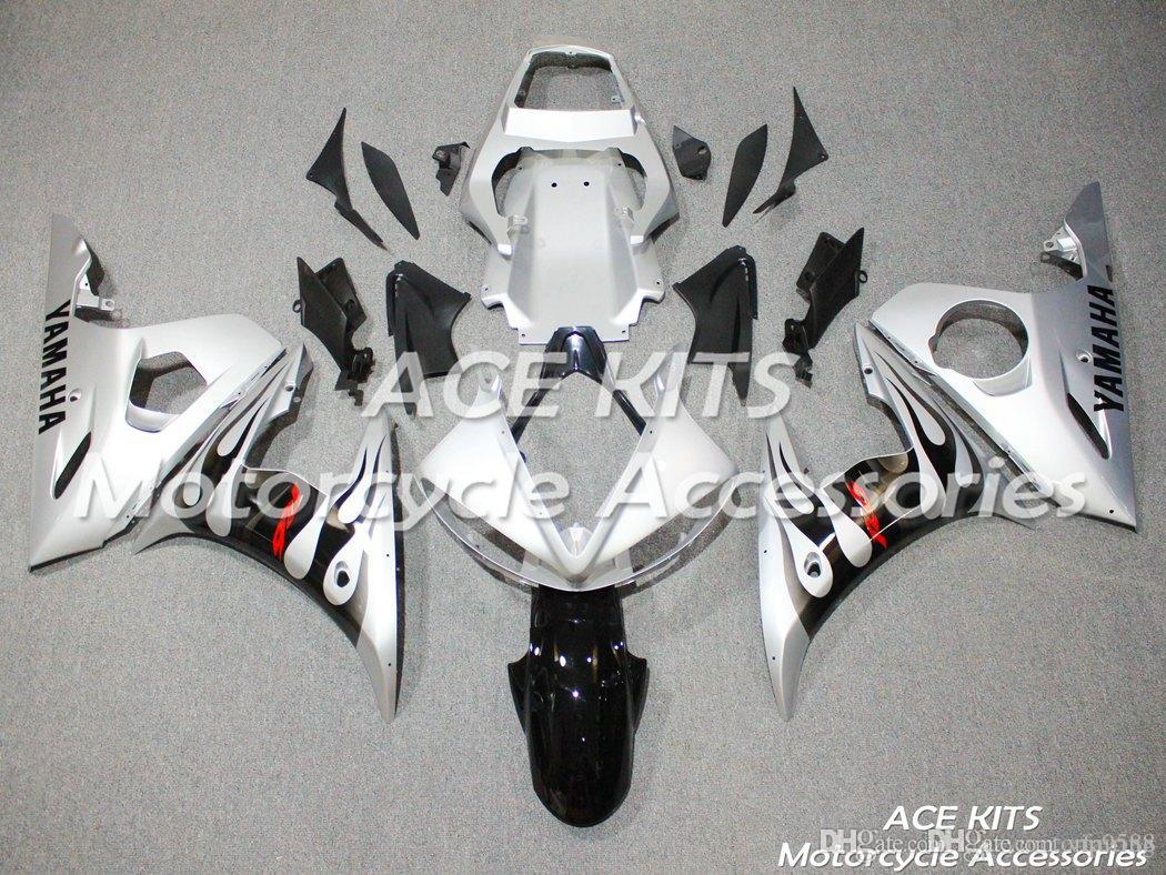 ACE KITS Motorcycle fairing For YAMAHA YZF R6 2003-2005 Injection or Compression Bodywork stunning silver NO.2248