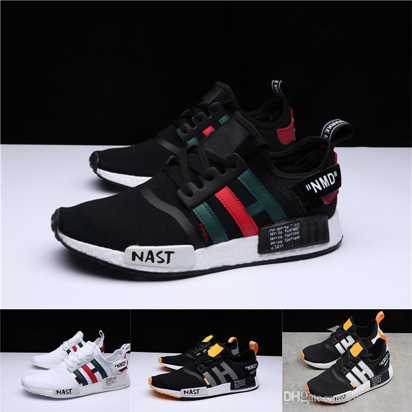 With Original Box NMD XR1 Primeknit Triple Black White Nmds Designer Running Shoes For Men Women Human Runner R1 Sports Sneakers Best Running Shoes
