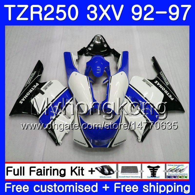 키트 YAMAHA TZR250RR 용 RS 화이트 글로스 블루 TZR250 92 93 94 95 96 97 245HM.42 TZR 250 3XV YPVS TZR 250 1992 1993 1994 1995 1996 1997 페어링