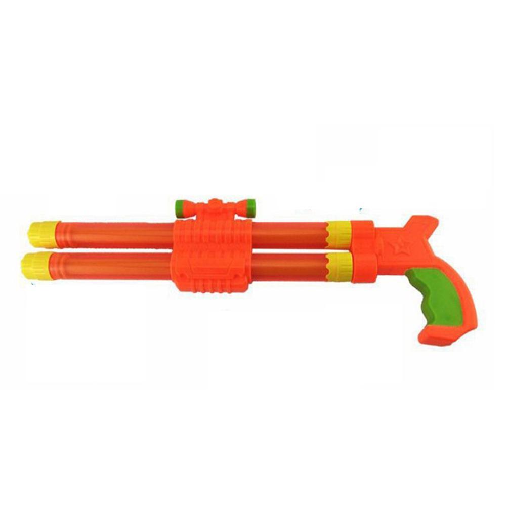 40 cm niños playa doble barril de agua chorro de juguete Super Soaker Tube Blaster Pump Squirter para playa piscina fiesta