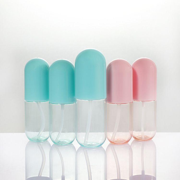 40ml 60ml Kosmetische Sprühflasche Make-up Gesicht Feine Zerstäuberlotion Lotion Flaschen Leere Kosmetika Nachfüllbare Kunststoffkapselform