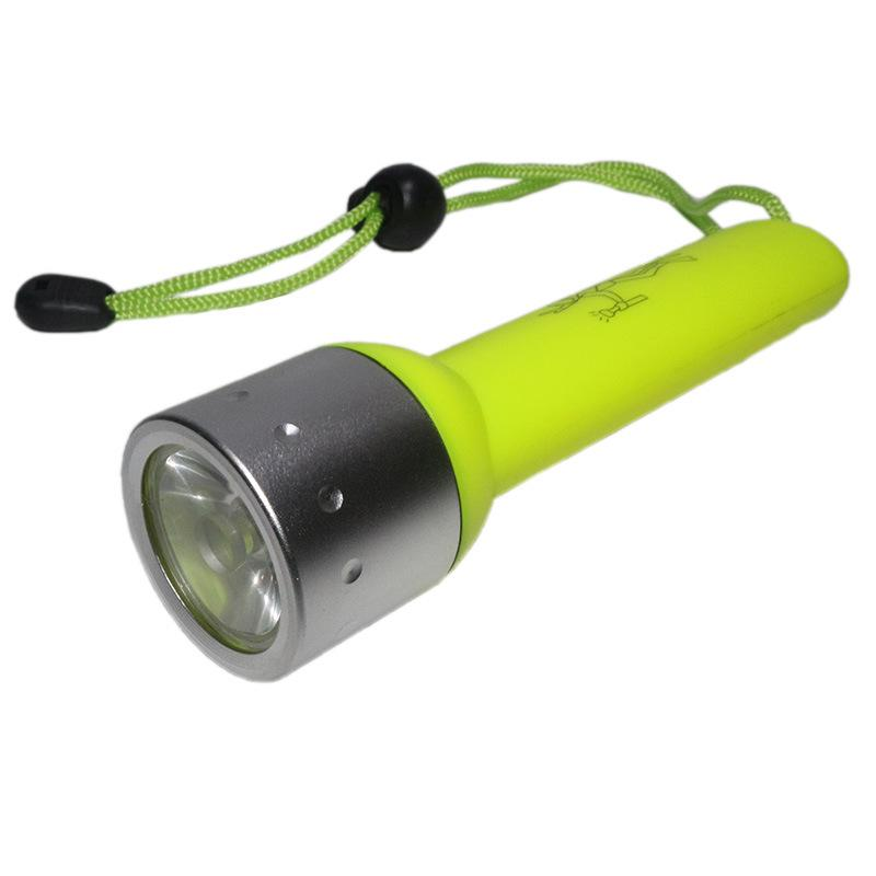818 Flashlight For Diving 1 Mode 120 Lumen Q5 LED underwater Torch With Yellow Black Red Blue