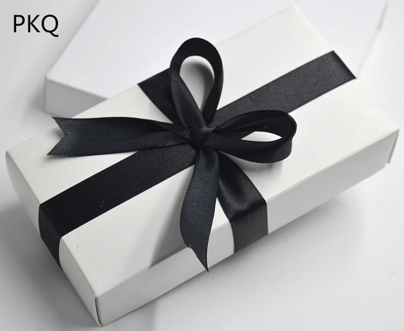 10pcs Kraft Paper scatole di cartone grande regalo bianco coperchio della scatola regalo di carta cartoncino nero grandi scatole di imballaggio imballaggio cosmetico