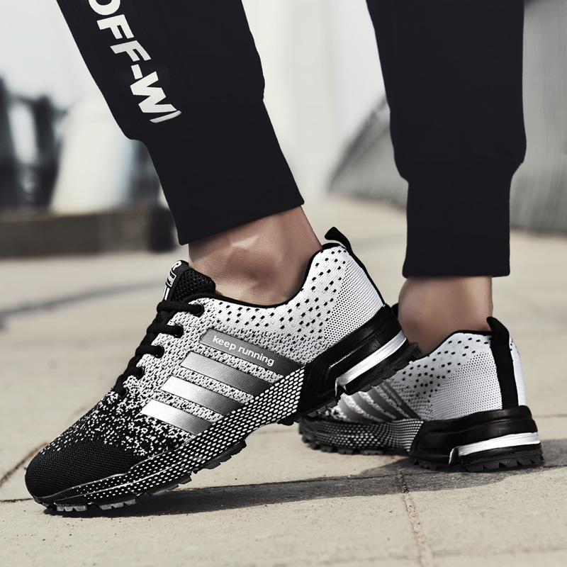 For Adults Men Women Outdoor Athletic Running Jogging Walking Shoes Male's Lace-Up Non-Slip Comfortable Breathable Sports Sneakers q1