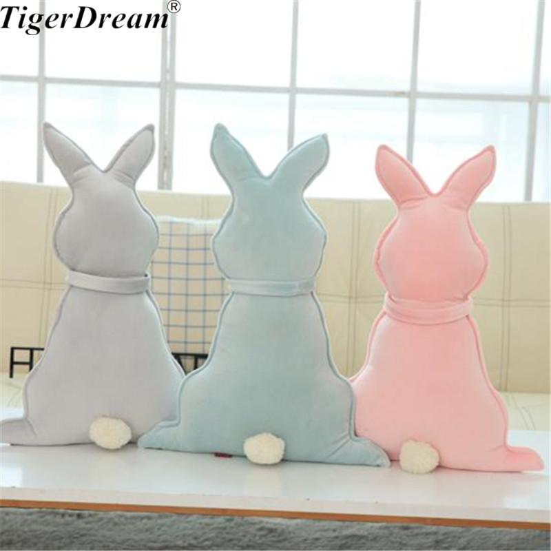 40X30cm Una pieza de conejo erizo juguetes de peluche Super lindo almohadas para dormir PP algodón cojines rellenos muñecas niños conejos juguetes