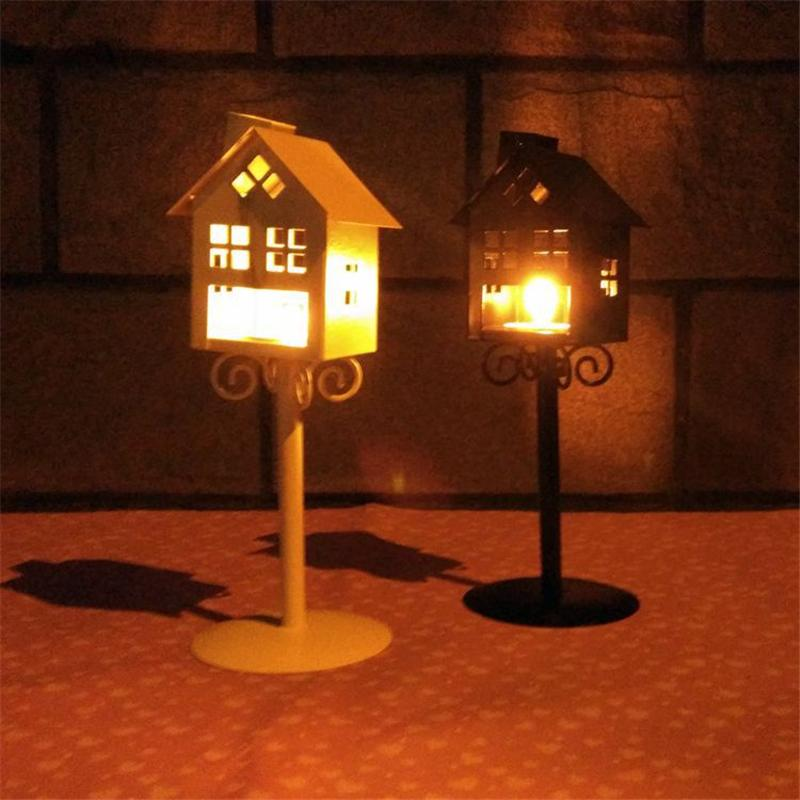 1 PC Portable Tealight Candle Lantern Wedding Holidays Home Decorations Decorative Floor Candle Holders Metal Iron Home Decor