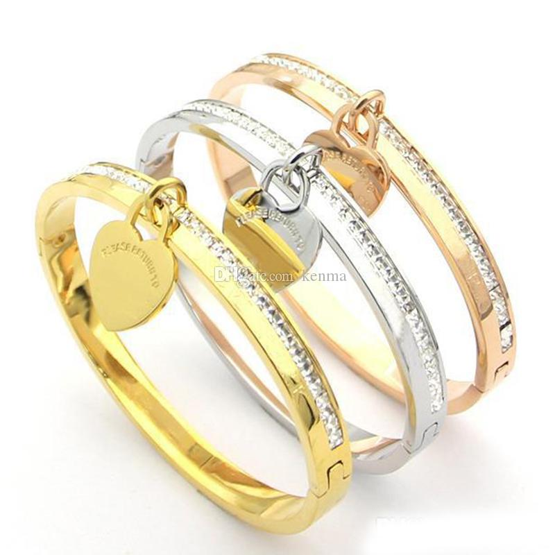 Logo stamps with original box fashion brand T Love designer bracelets for lady Design men women Party wedding loversTiffany luxury jewelry