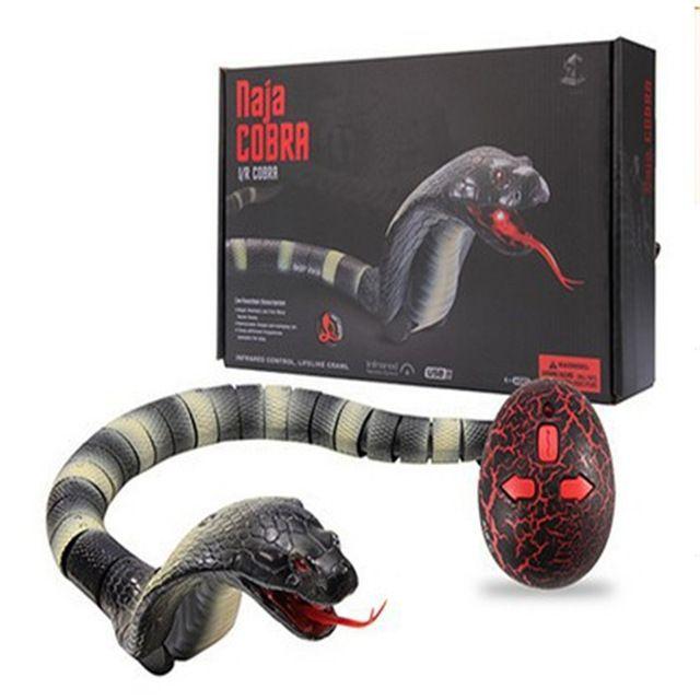 1 قطع البلاستيك الأشعة تحت الحمراء للتحكم كوبرا مضحك الأدوات الجدة مفاجأة العملي النكات محاكاة الحيوان المزحة rc ثعبان لعبة الأذى لعبة