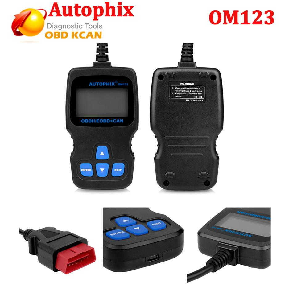 Autophix OM123 Code Reader Obd2 Engine Analyzer Automative Diagnostic Scan Tool