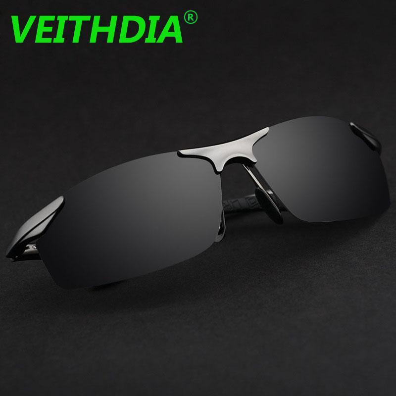 Veithdia alüminyum marka tasarımcısı polarize güneş gözlüğü erkekler gözlük sürüş gözlük yaz 2017 gözlük aksesuarları 6529