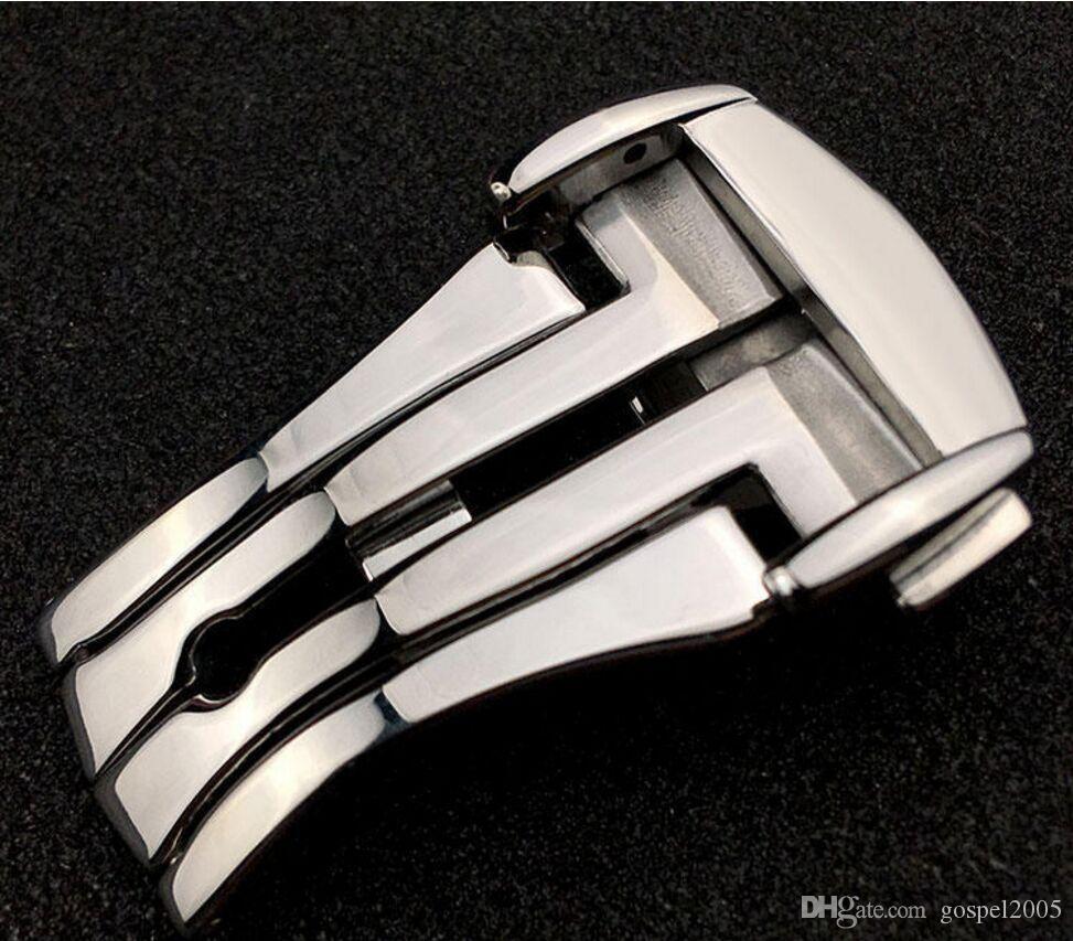 Para el reloj de OOME, el reloj de DHL shiping libre para el tono de acero inoxidable hebilla de mariposa de metal hebilla de despliegue de corchete hombres correas de reloj hombre mujer