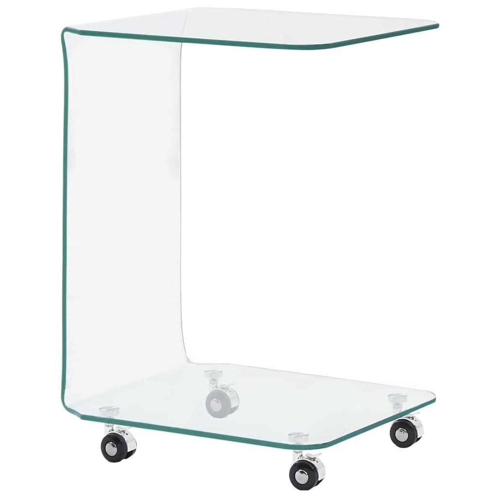 Couchtisch 45 x 40 x 63 cm gehärtetes Glas
