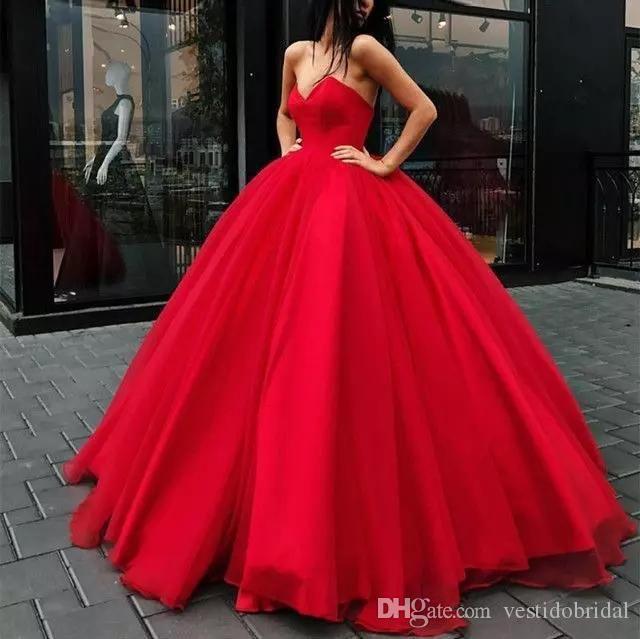 Modest Red Cheap Quinceanera Dress 2019 V Neck Corset Masquerade Ball Gown Prom Formal Wear Sweet 16 Dresses Vestido De 15 Anos Pageant