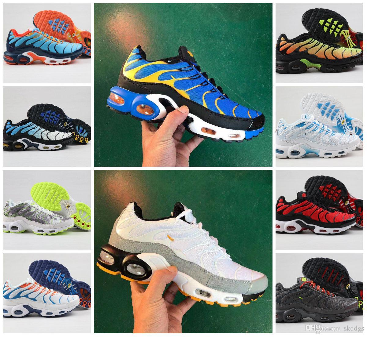 Alta calidad 2020 zapatos para hombre Tn TN Air New Negro Blanco Rojo más los zapatos deportivos muy bajos TN Requin moda zapatillas de deporte casuales