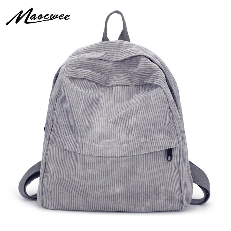 Women Backpack Youth Small Solid Casual Backpacks Students School Bag Teenage Girls Vintage Laptop Bags Rucksack Mochila Y200103