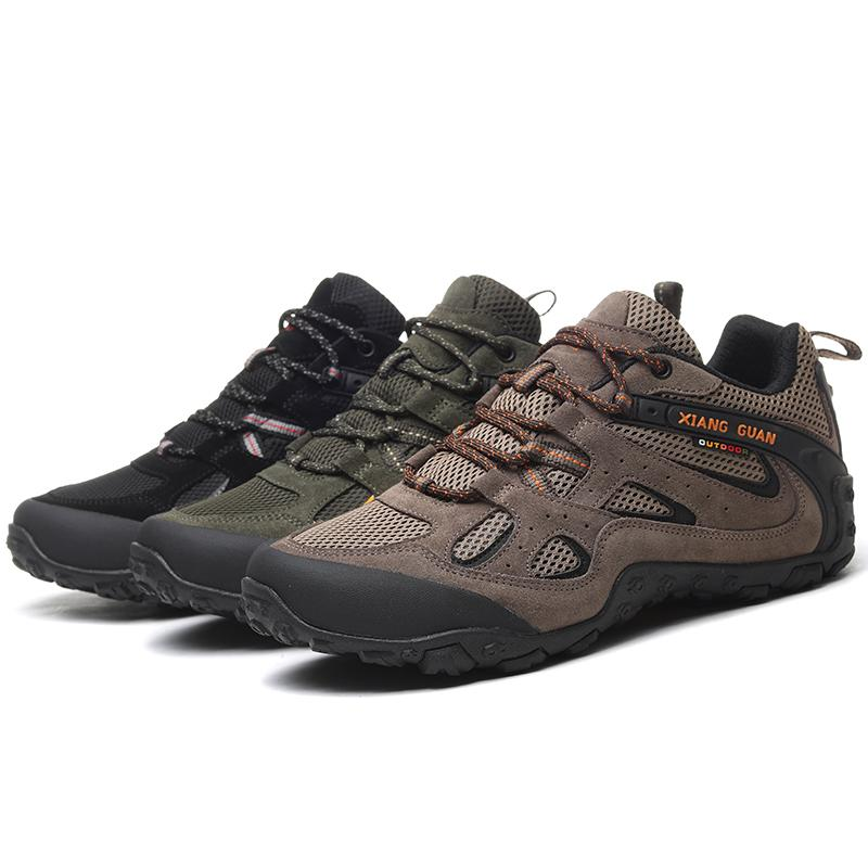 Hiking Shoes Outdoor Shock Absorption Hiking Breathable Off-Road shoes-black-44