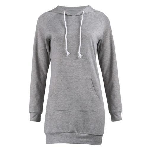 Tops Mulheres com capuz camisola Hoodies Vestido manga comprida Pullover Camisolas