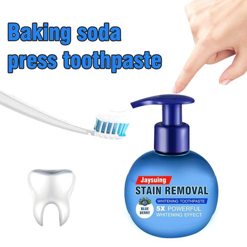220g de bicarbonato de sódio dentífrico Remove Intensivo Stain clareamento dental Fruit Luta Flavor Bleeding Gums com carvão de bambu escova de dentes