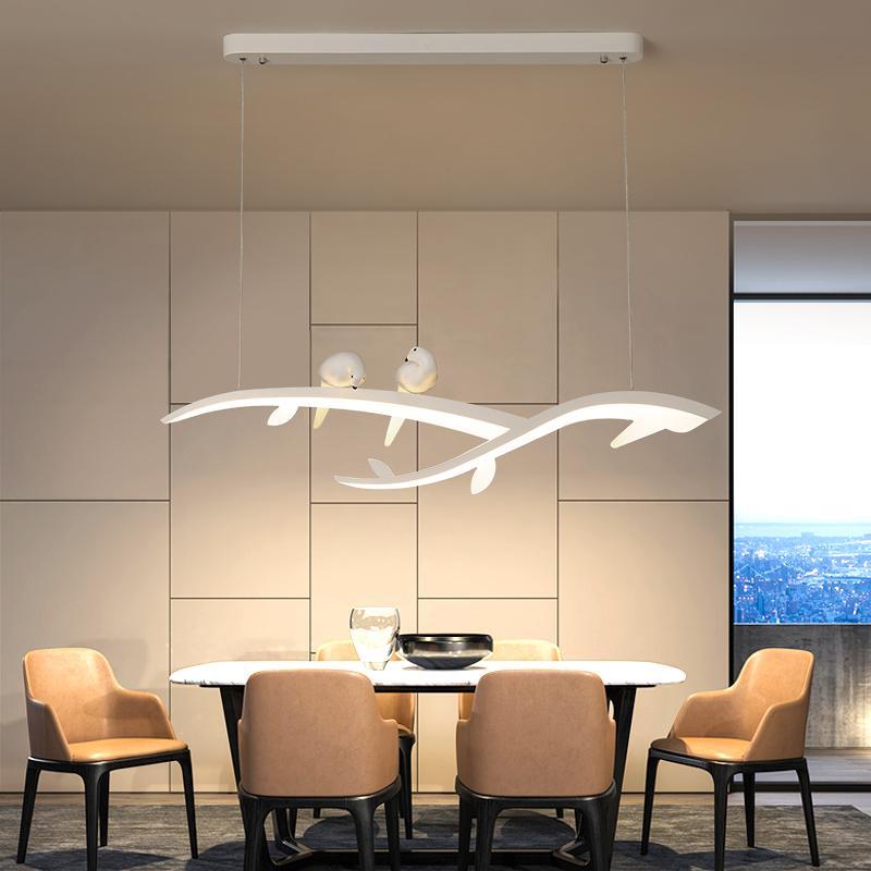 قاد الحديثة شنقا الثريا لغرفة الطعام غرفة المطبخ بار محل الثريا الأبيض مع الطيور 90-260V شحن مجاني