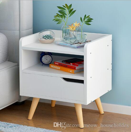 2019 Bedside Cabinet Modern Simple Bucket Cabinets Nordic Wind Bedsides  Cabinet Corner Cabinet Small Household Bedroom Storage Cabinets From ...