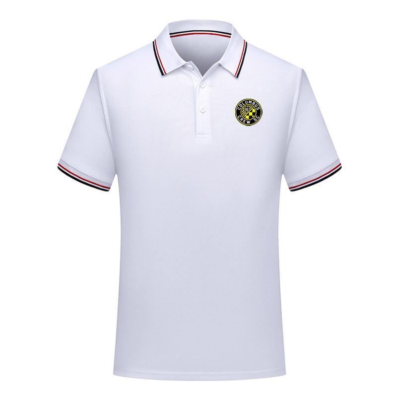 2020 Columbus Mens-Fußball Polohemd Sport Polo Fußball Polo Sommer Aktiv Fußball Short Sleeve Polo-T-Shirt Trikots Herren Polos
