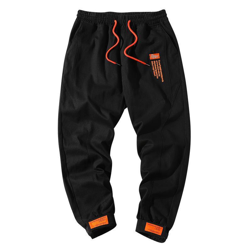 Vintage Moda Streetwear Erkek Jeans koşucu Pantolon Gündelik Boş Big Cep Kargo Pantolon Erkekler Haki Siyah Renk Hip Hop Pantolon