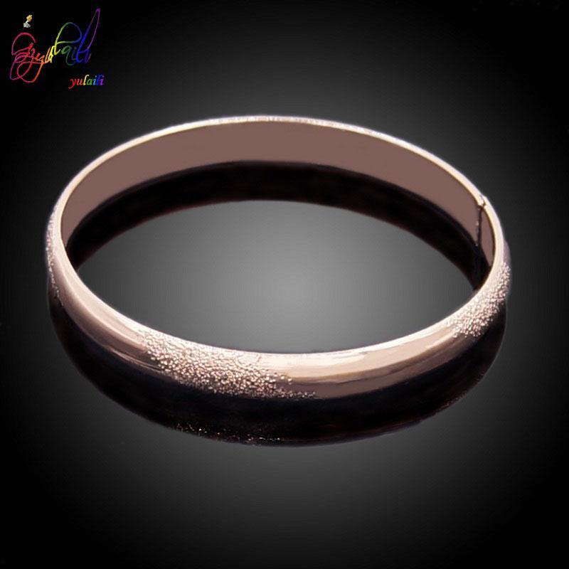 Yulaili alta calidad 2019 la pulsera del encanto del oro de moda exquisita Rose brazalete plateado de aleación de zinc para el regalo del partido de las muchachas las mujeres Shipping
