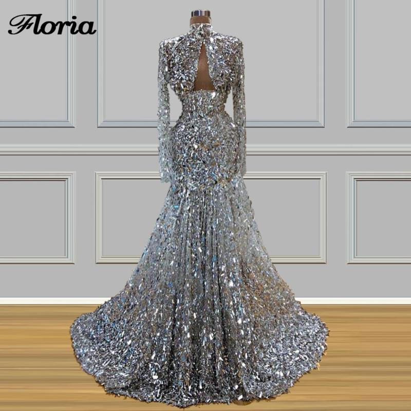 Middle East Luxury Long Evening Dresses With Sequins Vestidos 2020 Turkish Prom Dress New Dubai Arabic Celebrity Gowns Kaftans