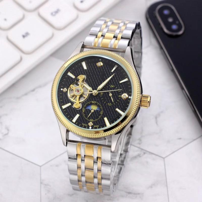 Yeni üst Erkekler Erkek izle Kadınlar Kadın Kol saatı Mekanik otomatik geri rüzgar tasarımcı yüksek Spor Chronograph saatler