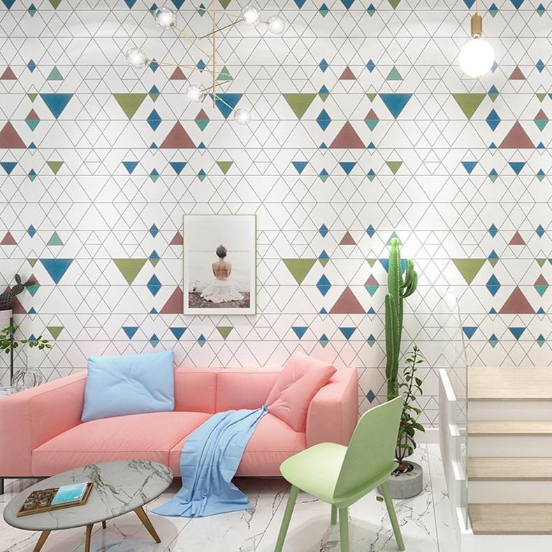 Fond d'écran imperméable à l'eau nordique nouvelle moderne Simple géométrique Wallpaper Design Salon TV fond papier peint en vinyle PVC