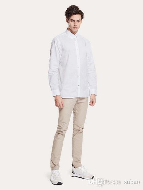 UK Moda Estate Uomo London Solid Fred Polo Oxford Mens designer dress Shirt Mens designer manica lunga polo t shirt con ricamo tech