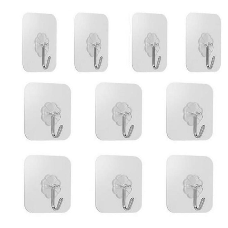 De haute qualité 8/10 PCS trèfle à quatre feuilles réutilisables auto-adhésif Crochets robuste mur étanche Hanger pour porte et salle de bains Kitc