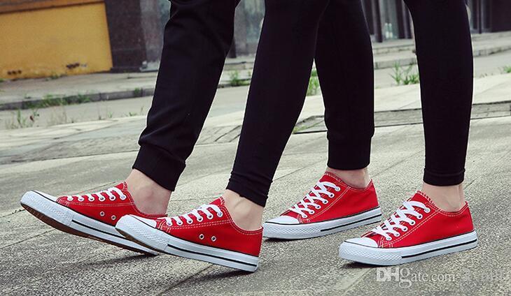 حار بيع أعلى الكلاسيكية تصميم الرجال النساء الأحذية القماشية منخفضة سكيت اللباس أحذية شحن مجاني
